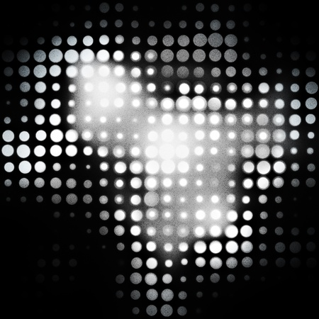 Black background with shone white apertures Stock Photo