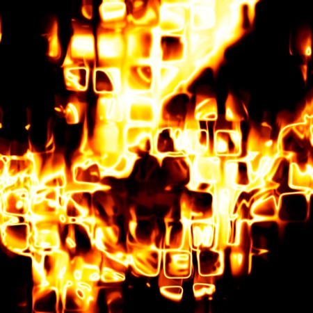 Abstract fiery drawing against a dark background Stock Photo - 10785234