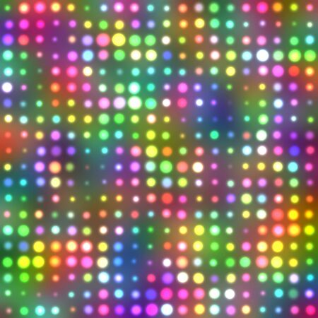 Light circles on a multi colored background photo