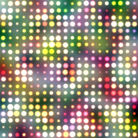 multi coloured: Light circles on a multi colored background