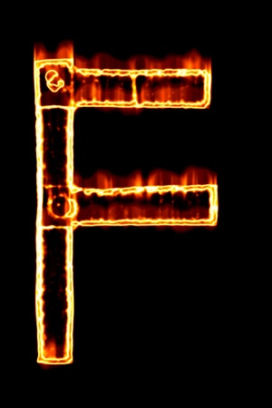 flame alphabet: Letter of the fiery alphabet
