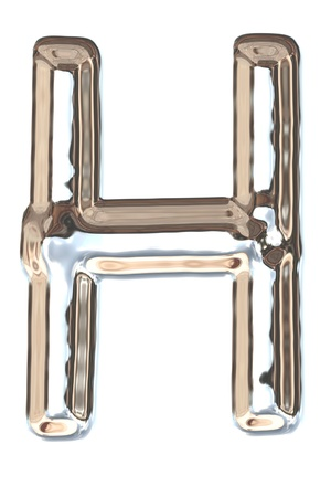 liquid metal: Lettera dalla luce metallo liquido