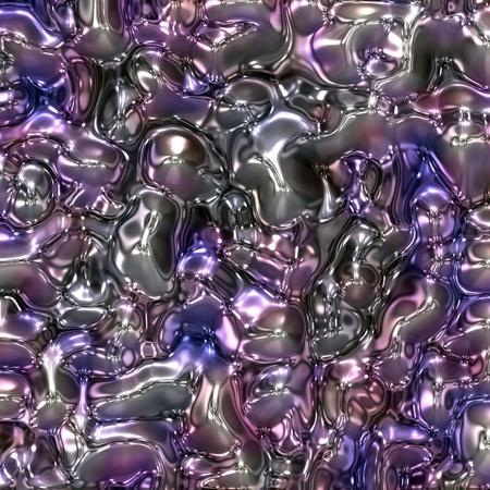 air bubbles: spread liquid plastic