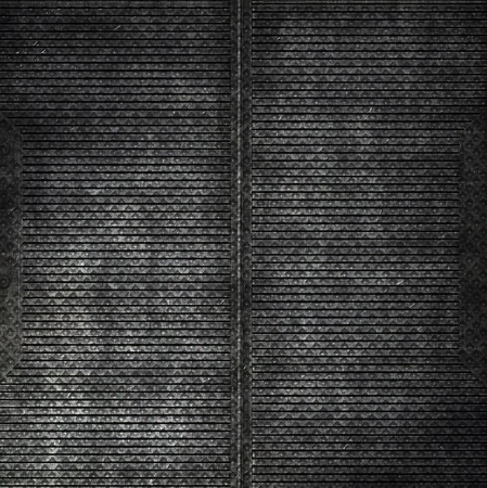 grating: Old dark dirty metal plate Stock Photo