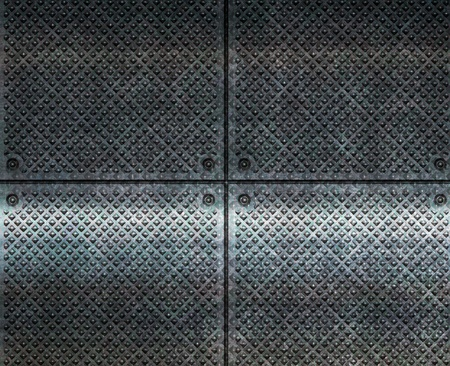 grating: brilliant metal surface close up
