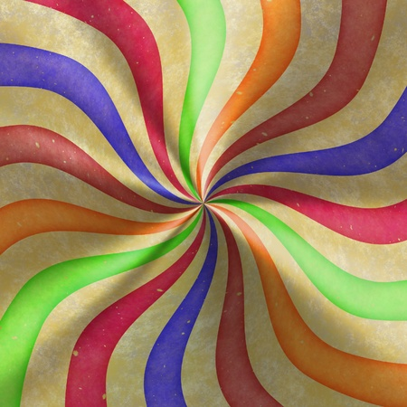 The drawn image of colored abstract segments photo