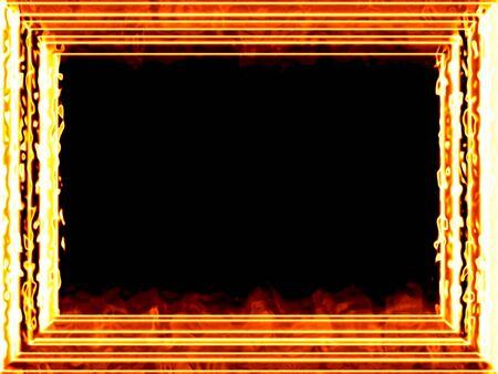 Fiery framework Stock Photo - 11126973