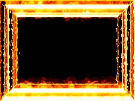 Fiery framework Stock Photo - 11126959