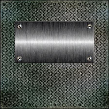 Glossy Platte auf eine gewellte Metalloberfläche Standard-Bild - 11163165