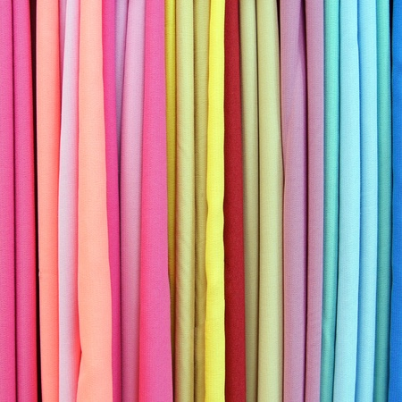 Background from multi color fabrics photo