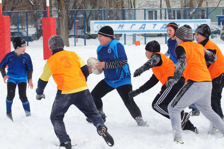 2 19 2012 Moscow, Marino. Tournament of the Moscow school League of Rugby football «the first starts