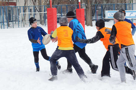 2 19 2012 Moscow, Marino. Tournament of the Moscow school League of Rugby football �the first starts