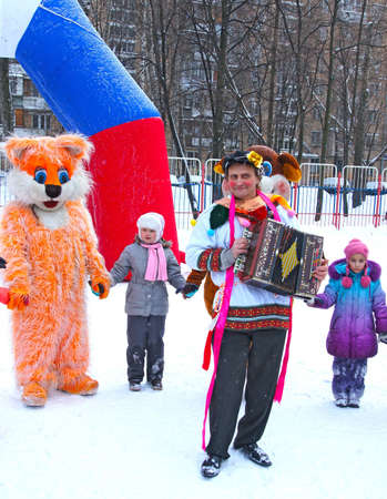 24 02 2012 Moscow. Childrens street holiday in pancake week Stock Photo - 12817619