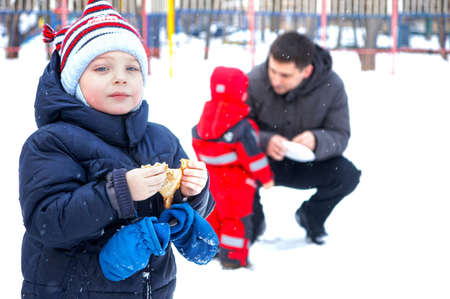24 02 2012 Moscow. Childrens street holiday in pancake week Stock Photo - 12817609