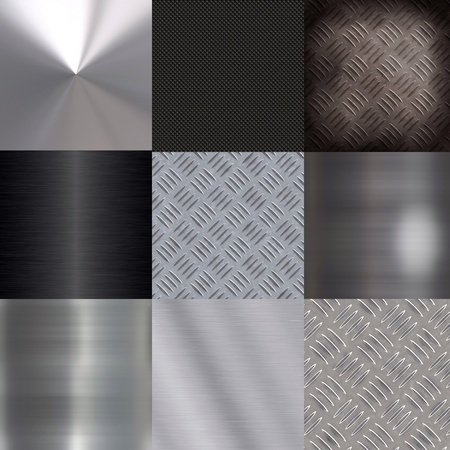 Design set of metal surfaces photo