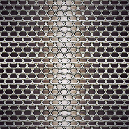 aluminium wallpaper: Imitation of Metal texture with holes