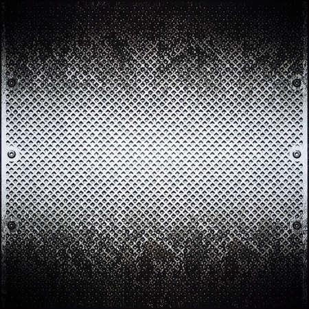brushed aluminium: Dark metal plate