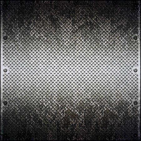 Dirty cellular metal surface close up Stock Photo - 12847337