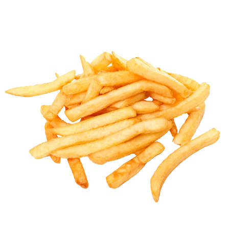 French fries, it is isolated on the white photo