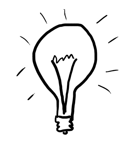 bulb drawing in primitive style Stock Photo - 12849988