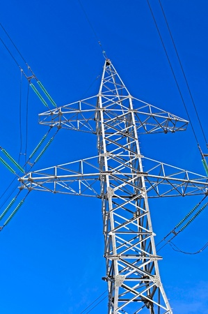 tower of a high-voltage power line photo