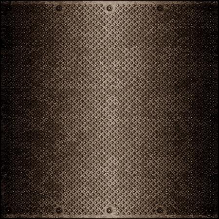 superficie de metal impresionante teñida de color marrón