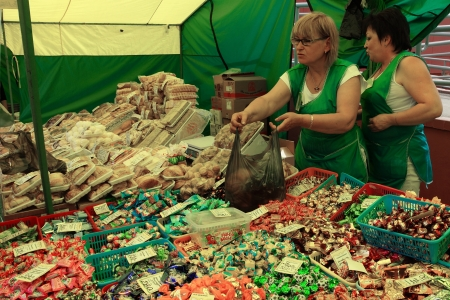 23.06.2011 Moscow, vegetable market. Stock Photo - 14359702