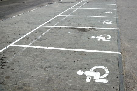 marking: Parking marking for disabled people  Stock Photo