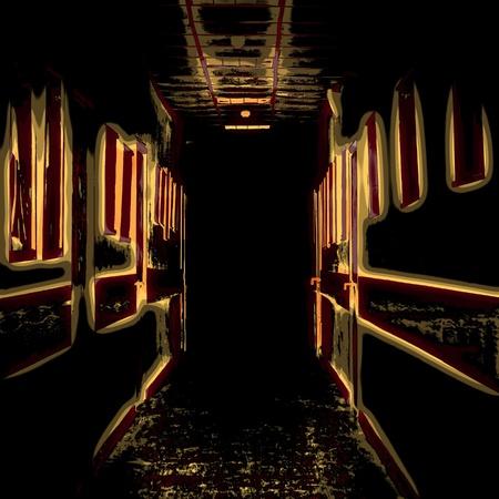 Black corridor  Stock Photo - 14715750