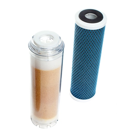 new filter: cartridge for filters of cleaning of tap water Stock Photo