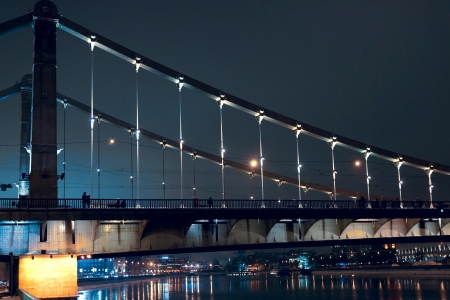 08.12.2012 Moscow. Krymsky Bridge, night look.