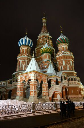 08.12.2012 Moscow. St. Basils Cathedral - the Cathedral of the Integument of the Blessed Virgin that on the Ditch, a night look. Stock Photo - 16978931
