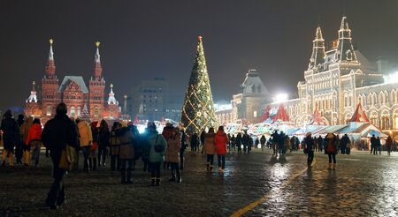 08.12.2012 Moscow, Red Square. New Year tree. Stock Photo - 16993893