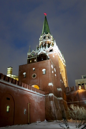 26.12.2012 Moscow. Tower of the Kremlin Stock Photo - 17377757