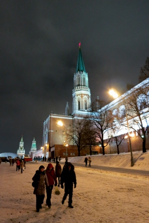 26.12.2012 Moscow. Tower of the Kremlin Stock Photo - 17377756