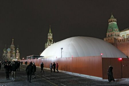 December 26, 2012 Moscow, repair of the Lenin Mausoleum. Stock Photo - 17377755