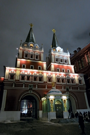 12.26.2012 Moscow. Iberian Gate. Stock Photo - 17355735
