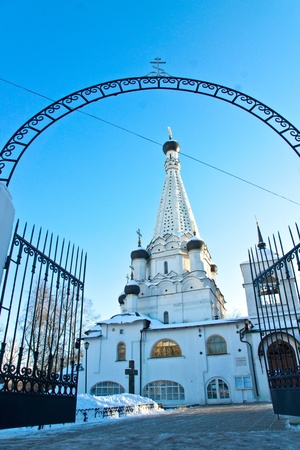 12.12.2012 Moscow. The temple of the Integument of the Blessed Virgin in Medvedkovo. Stock Photo - 17355509