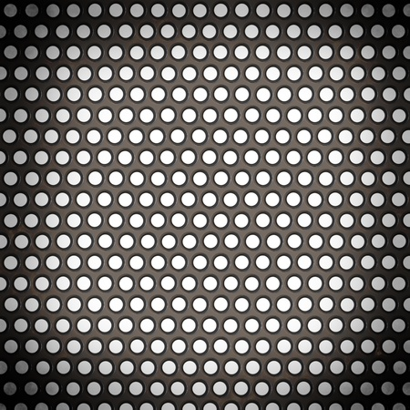 netty: metal surface with holes on a white background Stock Photo