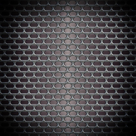 Metal texture with holes photo