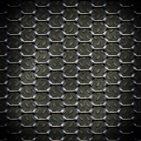 durable: The abstract metal surface darkened at the edges
