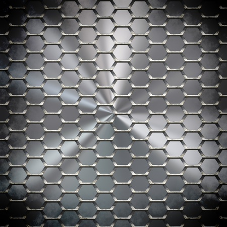 The abstract metal surface darkened at the edges Stock Photo - 18517691