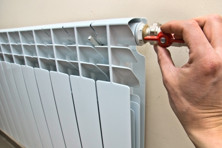 radiator of a central heating in the apartment Stock Photo - 18624888