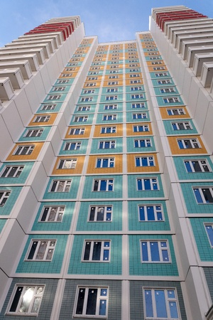 Facade of a new many storeyed apartment house Stock Photo - 19249554