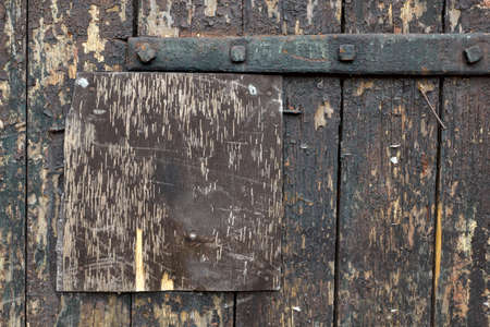 wooden surface of old door photo