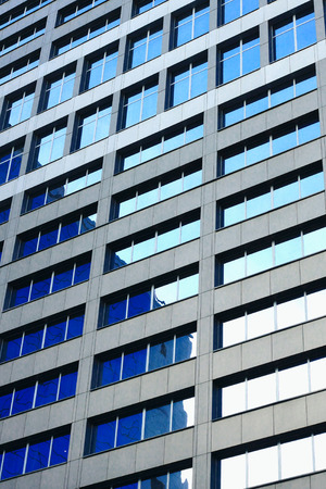 Windows of big office building photo