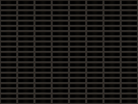 grille: Metal grille with rectangular dark cells. Stock Photo