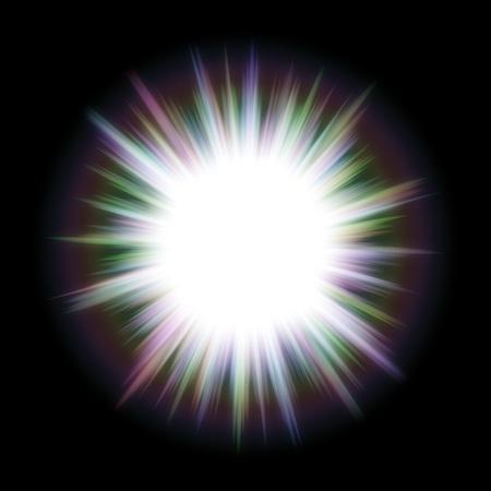 big bang: Bright big bang, like a star with long light rays.