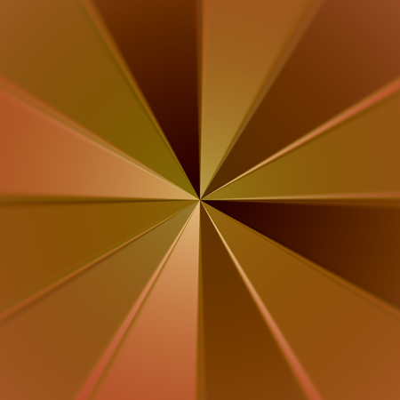 Gold plate with radial rays and shadows. Stock Photo