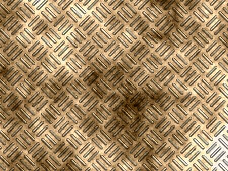 checkerplate: Gold metal corrugated surface with a dark technical dirt.
